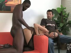 Veronica Jett love the bum shagging with a black lad