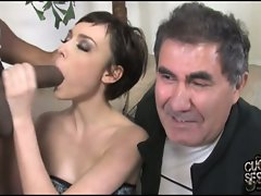 Zoe Voss kneel at the altar of a lewd guy's strong dick