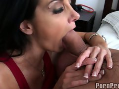 Ava Addams doing a brutal head job for hunk chap