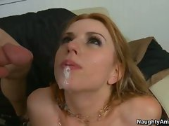 Lexi Belle taste the cum of filthy friend's brother