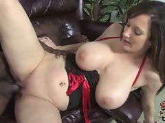 Stephanie Wylde lying on the couch and screwed brutal