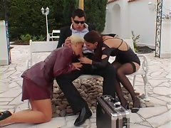 Claudia Rossi and Stacy Silver high class prick blowing