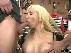 Morgan Ray stroking her son in laws too brutal