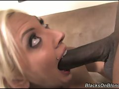 Skyler Price tempting blonde like to do a brutal hum-job for black