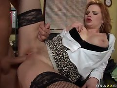 Hussy Tarra White gives her service to a lewd fellow