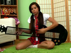 Jessica Koks sxy slutty girl playing and instrument