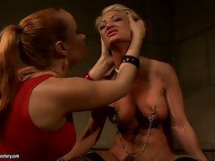Katy Borman torturing a blond wench girl