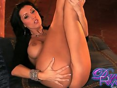 Dylan Ryder stretch up her legs showing round butt