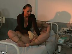 Kathia Nobili and Mandy Bright torture lewd patient