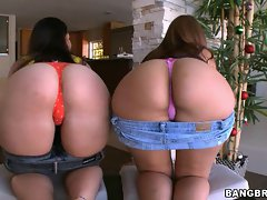 Alex Casio and Nikki Skye showing off their phat butts