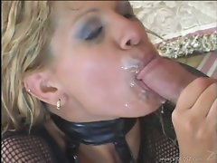 Rio Mariah receives a lewd reward of phallus sauce after a nice fuck