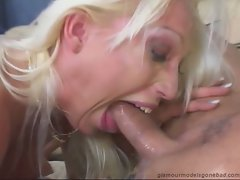 Nikki Hunter destroys her throat with her boyfriend's amazing digger