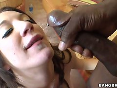 Amy Brooke gets her mouth creamed with fresh filthy goo after a gorgeous bang