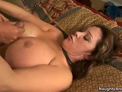 Whorish momma Kandi Cox gets creamed with fresh man's goo and loved it
