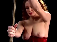 Berlin and sabrina fox pegging slave while he is bound