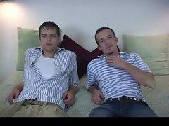 Attractive and alluring hetero chaps having gay sex gay video
