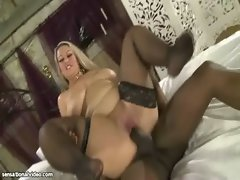 Filthy English Big Tit Filthy bitch Caresses Large ebony shaft