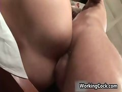 Jake Steel screwing and fellatio on work gay porno