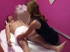 Raunchy asian masseuse stroking for cash and cant get enough
