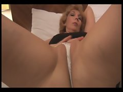 Attractive Slutty mom stripping and showing off sensual muff