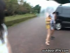 Anri Nonaka Asian attractive chick in outdoor