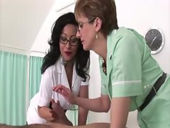 Aged nurse Lady Sonia and friend seductive russian