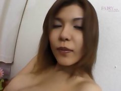 Shy asian girlie showing sexual assets