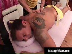 Filthy and randy dude gets the massage gay sex