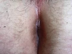Stunning anal contractions by cumshot