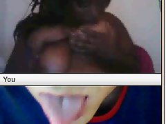 Black hussy in chat