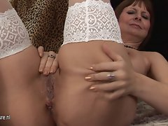 Buxom filthy mom playing and getting randy