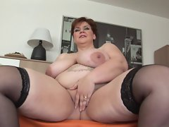 Unforgettable Shorthair-BBW Mommy - Dildoing & Posing