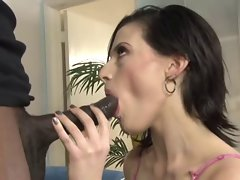 Annika Amour - Grinding with a ebony phallus