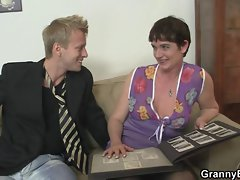Her shaggy older fanny gets drilled by stiff phallus