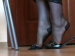 Legs and feet in nylon