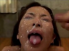 Sensual japanese babe gets plenty of jizz