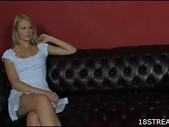 Sensual raunchy teen tempting blonde fantasy