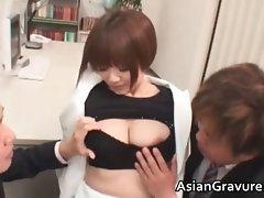 Sensual asian dark haired Meguru with big melons part5