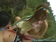 Jap Outdoor Sex in Polynesia!