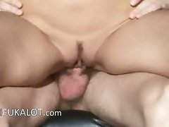 gal banged by her friend on the chair