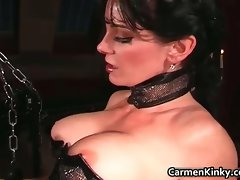 Kinky dominatrix Carmen is showing part5
