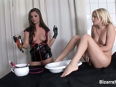 Whorish blond girl gets cunt banged part4