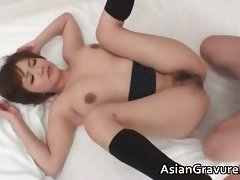 Sexual asian dark haired Meguru with big melons part6