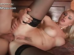 Obscene fist banged blondie gets her stiff part4