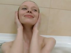 Seductive russian great bony young woman in the shower