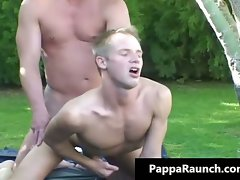 Attractive mature gay dude gets his solid cock part4