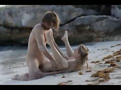Extreme art sex of raunchy couple on beach