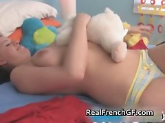 Big boobed french barely legal teen toy banging part4