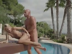 Vacation fantasy with enchanting blond