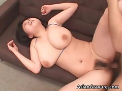 Filthy asian cutie with giant breasts part1